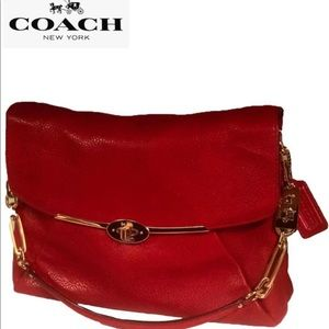 Coach, ( Madison ) Astor Pebbled Leather Bag (New)